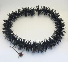 Stacheligen Upcycled Innenrohr Halskette