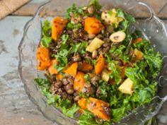 Recette Salade de kale, quinoa et lentilles
