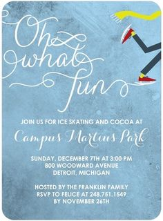 Flat Holiday Party Invitations Chills and Coco - Front : Chill