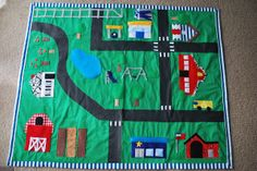 Just Another Day in Paradise: Homemade Present #2: Car Playmat