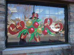 Holiday Window Painting Ideas   Window painting Utah /Casper Windows