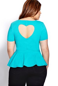 Sweetheart Peplum Top | FOREVER21 PLUS - 2000071252.
