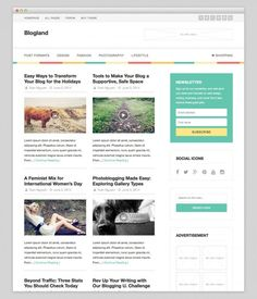 Blogland free wordpress theme