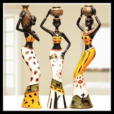 Cheap ornaments, Buy Quality ornaments home directly from China ornamental decoration Suppliers: New house decoration home accessories living room hom decoration unique doll resin crafts Exotic gift ornaments African Tribal Girls, African Women, African Fashion, Luxury Home Accessories, Decorative Accessories, Christmas Accessories, Cheap Ornaments, African Art Paintings, Style Africain