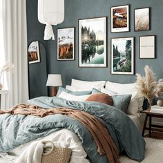 Bedroom Wall Colors, Bedroom Decor, Gallery Wall Bedroom, Inspiration Wand, Poster Store, Home Fix, Apartment Living, Decoration, Home Furniture