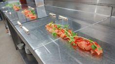 Salmon on glass