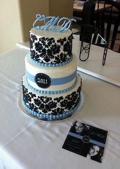 Elegant Graduation Cakes   damask graduation cake proof that graduation cakes don t need school ...