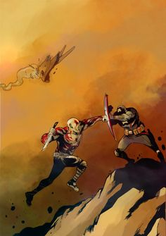 Drax vs Captain America by SebasP on DeviantArt Drax The Destroyer, Marvel Art, Old Boys, Guardians Of The Galaxy, A Team, Art Inspo, Captain America, Comic Art, Avengers