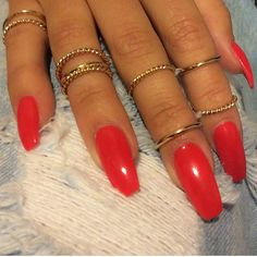 Coffin shaped nails I must do!