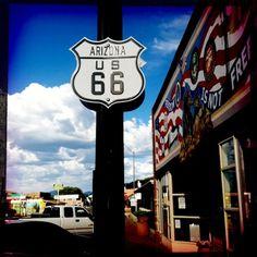 Road 66, Arizona. (photo by me)