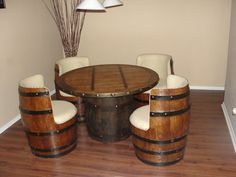 Barrels: These chairs are cut out from oak barrels and would make great card-playing seats. Photo: etsy.com/shop/TequilaBarrelCrafts