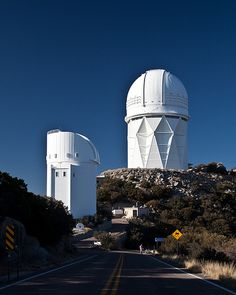 """Kitt"" Peak Observatory giant telescopes, world renowned.  Tucson, Arizona"