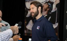 Rangers Media Day: Dom Moore, probably my favorite playoff beard Hockey Playoffs, Rangers Hockey, Stanley Cup Playoffs, Hockey Sticks, Colorado Avalanche, All Things New, New York Rangers, Beards