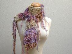 gypsy nomad. vegan knit scarf rustic bohemian fall by KnotOriginal, $68.00