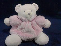 Little Wonders Teddy Bear Plush Infant Baby Pink Pluffy Stitch Eyes Stuffed Toy #LittleWonders