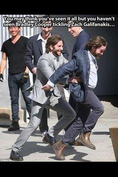 Bradley Cooper tickling Zachary Galafanakis. Day made.