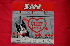 1950's Boston Terrier valentine