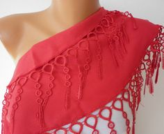 Red Scarf   * fatwoman, $13.50