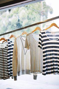 Stripe love at Los Angeles boutique Des Kohan