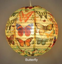 Decorative Chinese Paper Lantern - Butterfly