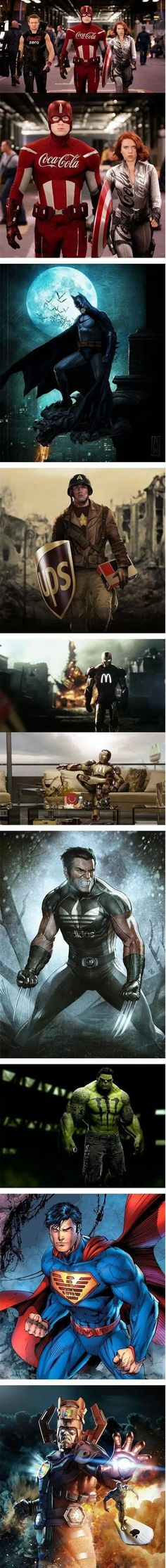 If superheros had sponsors  // funny pictures - funny photos - funny images - funny pics - funny quotes - #lol #humor #funnypictures