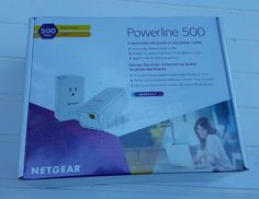 Netgear WiFi range extender XAVB5421-100PAS Powerline 500 Mbps Kit #NetGear