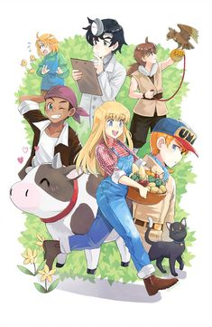 More Harvest Moon Life by jojostory on DeviantArt Female Character Inspiration, Character Poses, Character Design, Creepers, Harvest Moon 64, Harvest Games, Videogames, Rune Factory 4, Old Country Churches