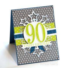 Happy Birthday - Number of Years — Painted Orange 100th Birthday Card, Birthday Blast, Old Birthday Cards, Happy 90th Birthday, Bday Cards, Birthday Numbers, Handmade Birthday Cards, Male Birthday, Special Birthday