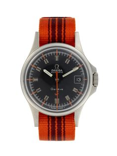 Orange, such an underutilize color - Omega Geneve Admiralty Red Anchor c. 1960s