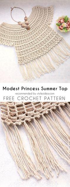 Top Summer Tops Crochet Free Pattern #crochet #top #pattern #cover-up #summer #freepattern #tunic