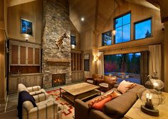 O great cabinets flanking fireplace, good stone on fireplace  Martis Camp Home by Sandbos Studio Residential 119 Martis Camp Home by Sandbox Studio in Truckee, CA