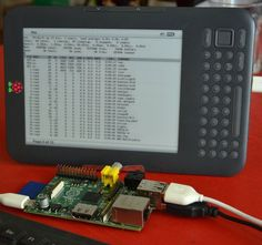 kindleberry pi - Hack a Kindle Into a Minimal Computer with a Raspberry Pi - Yo quiero esto!!!