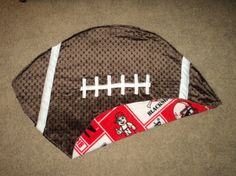 Nebraska Husker Football Shaped Baby Blanket