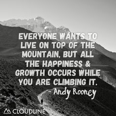 Enjoy the journey to the top of the mountain!