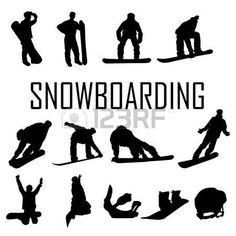 Illustration of Silhouette set of different winter sports skiing part 1 vector art, clipart and stock vectors. Man Vector, Vector Art, Snowboarding, Skiing, Snowboard Design, Trans Art, Silhouette Vector, Silhouette Photo, Ski Sport