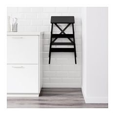 IKEA - BEKVÄM, Stepladder, 3 steps, Can be folded to save space.Solid wood is a durable natural material.
