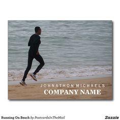 Running On Beach Postcard