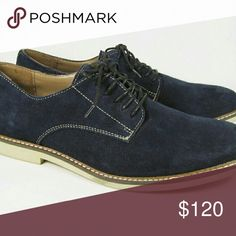 PoshFest pick!  Banana Republic blue suede shoes The 8.5 looks to have a few walks in them and no box. Both still look new for these blue suede shoes.  Get your Elvis groove on and strut around in these awesome shoes.  This size didn't work for my gift ideas so I'm selling them here!  Any questions, please ask! Banana Republic Shoes Oxfords & Derbys
