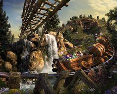 Uma montanha-russa leve e divertida leva toda a família para uma aventura na mina dos sete anões (Foto: Divulgação/Walt Disney World)
