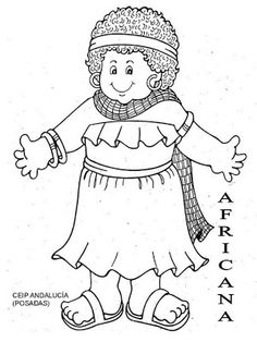 Celebration Around The World, Seasonal Celebration, Coloring Sheets, Coloring Pages, Sue Sunbonnet, Africa Craft, Toddler Class, World Thinking Day, World Geography