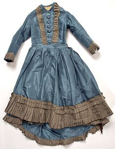 1870 Girl's Dress  Culture: American  Medium: silk