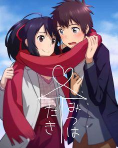Kimi no na wa Mitsuha and Taki Manga Anime, Film Anime, Manga Art, Kimi No Na Wa, Anime Love, Anime Guys, Anime Cosplay, Kawaii Anime, Mitsuha And Taki