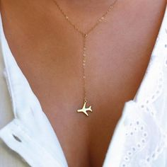 Cheap layered necklace, Buy Quality necklaces for women directly from China necklace jewelry Suppliers: Gold Airplane Pendant Layered Necklace For Women Tiny Dainty Necklace airplane pendant charms airplane necklace jewelry Dainty Jewelry, Cute Jewelry, Charm Jewelry, Jewelry Gifts, Jewelry Accessories, Jewelry Necklaces, Women Jewelry, Fashion Jewelry, Jewellery