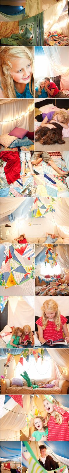 What a fun (huge!) fort!  This would be great for Family Night. :)