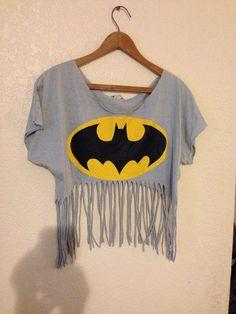 Batman cropped fringe top  by encorefashion on Etsy, $9.50