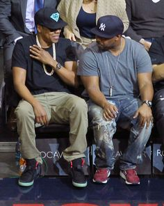 Jay-Z reppin' the black Air Yeezy 2