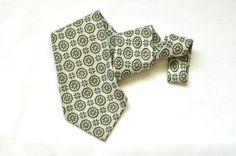 Mens #Retro Wide Tie Floral Vintage Olive Green by #ArmorOfModernMen, $17.95 #mensneckties #mensfashion #mensstyle #suitsandties