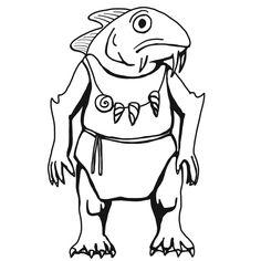 Chuul (from the D&D fifth edition Monster Manual). Art by