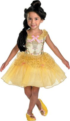 NEW Beauty and the Beast Belle Ballerina Toddler / Child Costume Fancy Dress,