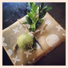 kraft paper and greens